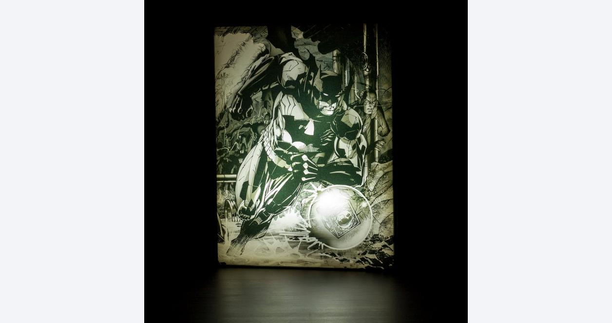 Jim Lee Light Up Canvas Wall Art: Batman with Flash
