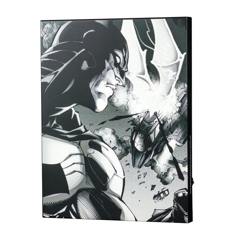 Jim Lee Light Up Canvas Wall Art: Batman Close up