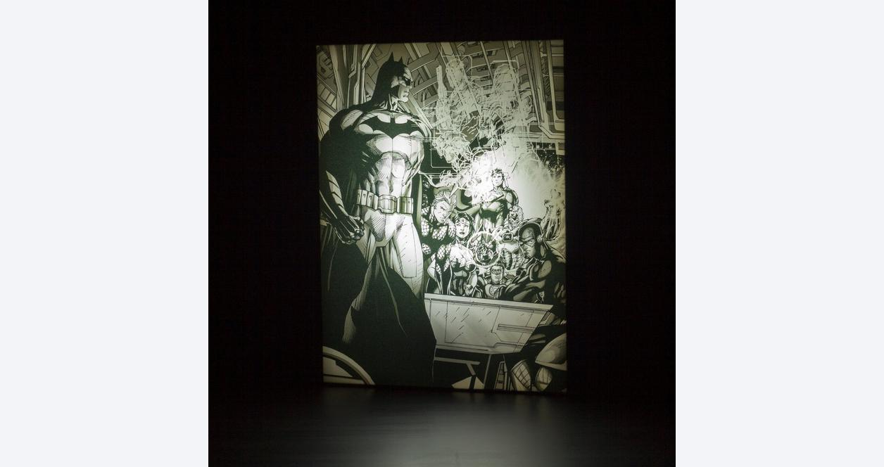 Jim Lee Light Up Canvas Wall Art: Batman with Justice League