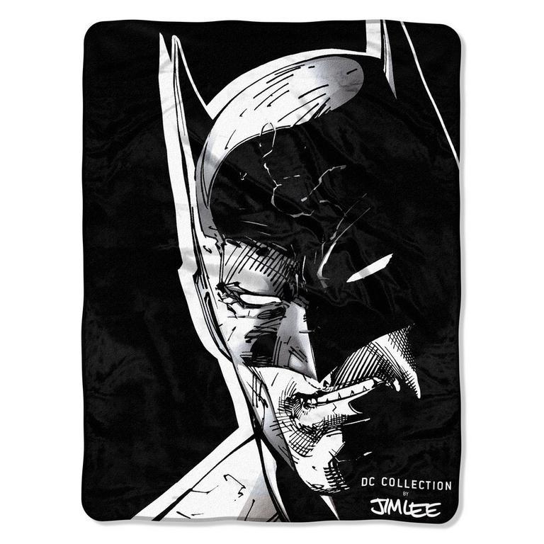 Batman: Jim Lee Crusader Face Art Blanket - Only at GameStop