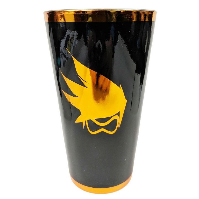 Overwatch Tracer Chrome Pint Glass