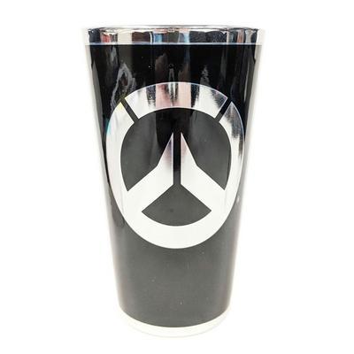 Overwatch Logo Chrome Pint Glass