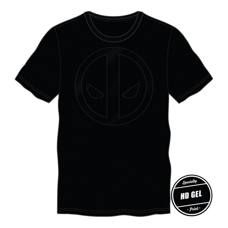 Deadpool Blacked-Out Logo  T-Shirt