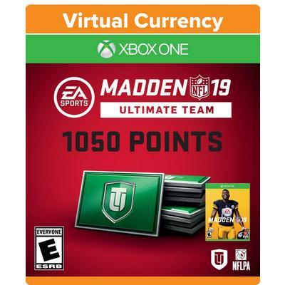 Madden NFL 19 1050 Ultimate Team Points Digital Card