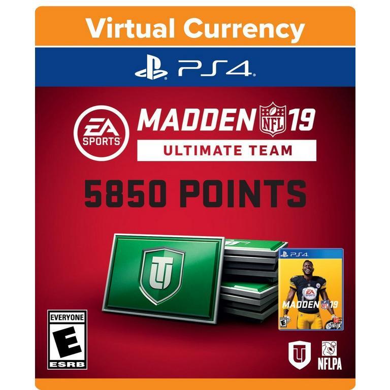 Madden NFL 19 Ultimate Team 5,850 Points