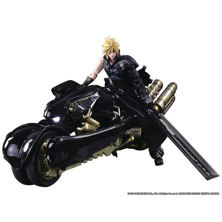 Final Fantasy VII Advent Children Cloud Strife and Fenrir Play Arts Kai Figure Set