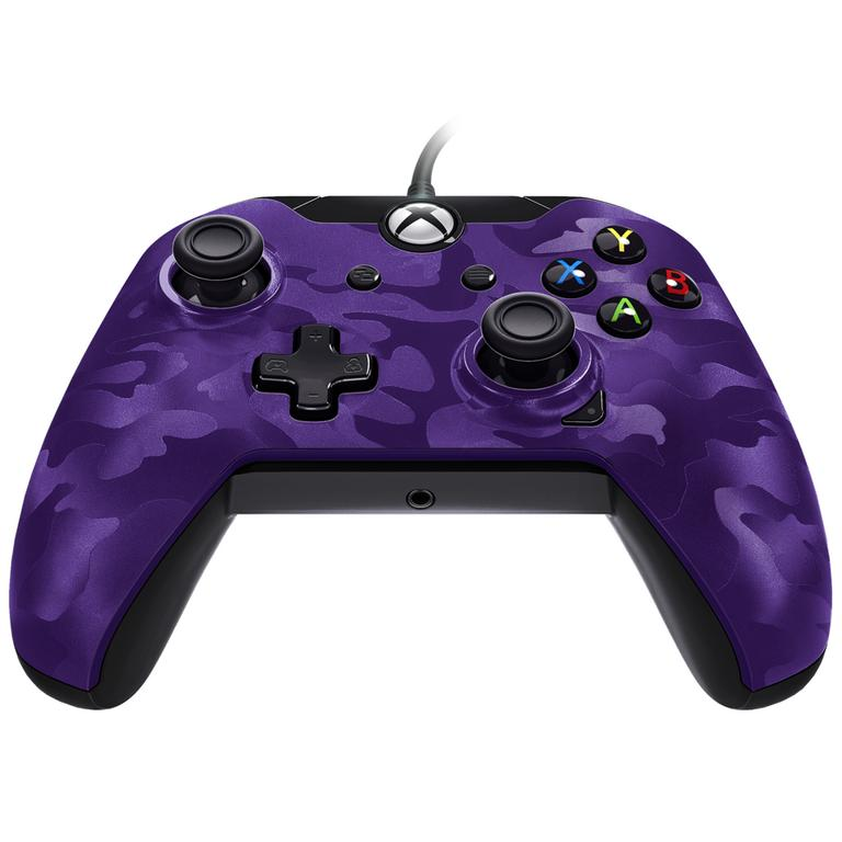 Purple Camo Wired Controller for Xbox One
