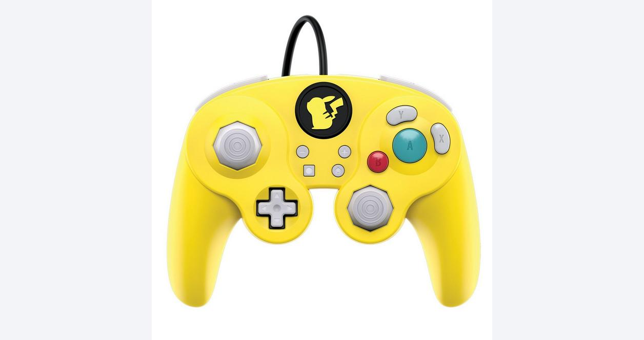 Super Smash Bros. Ultimate Pikachu Edition Wired Fight Pad Pro Controller for Nintendo Switch