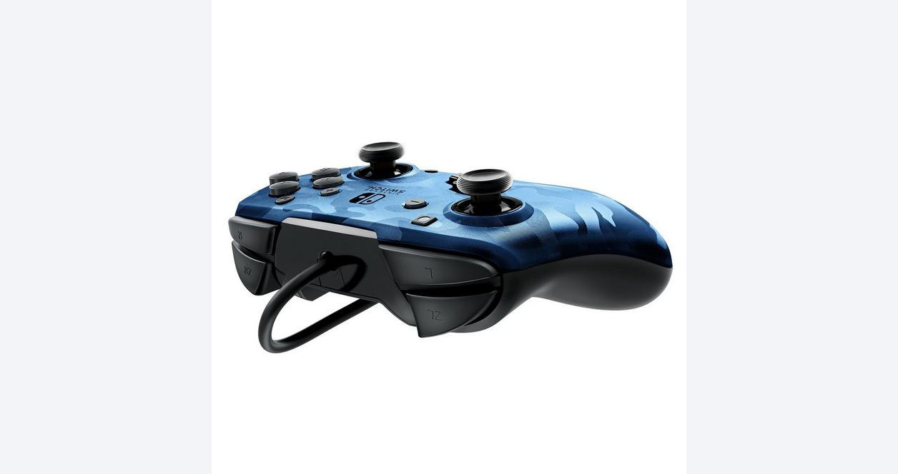 Black Camo Face-Off Wired Controller for Nintendo Switch