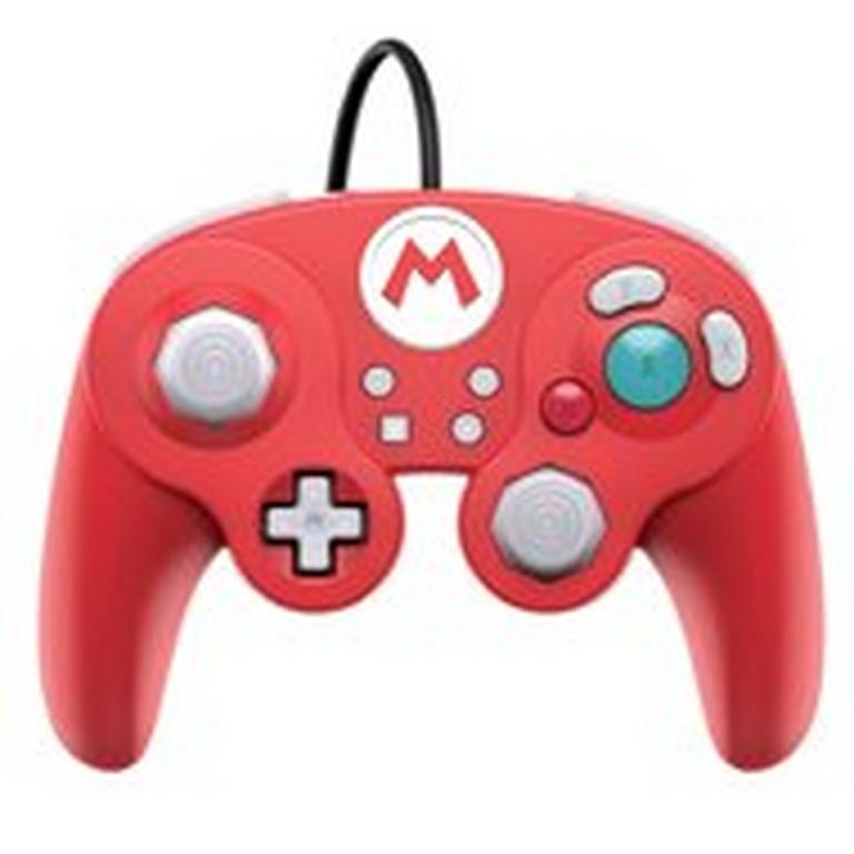 Super Smash Bros. Ultimate Mario Edition Wired Fight Pad Pro Controller for Nintendo Switch