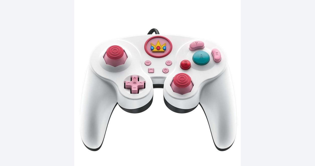 Super Smash Bros. Ultimate Princess Peach Edition Wired Fight Pad Pro Controller for Nintendo Switch