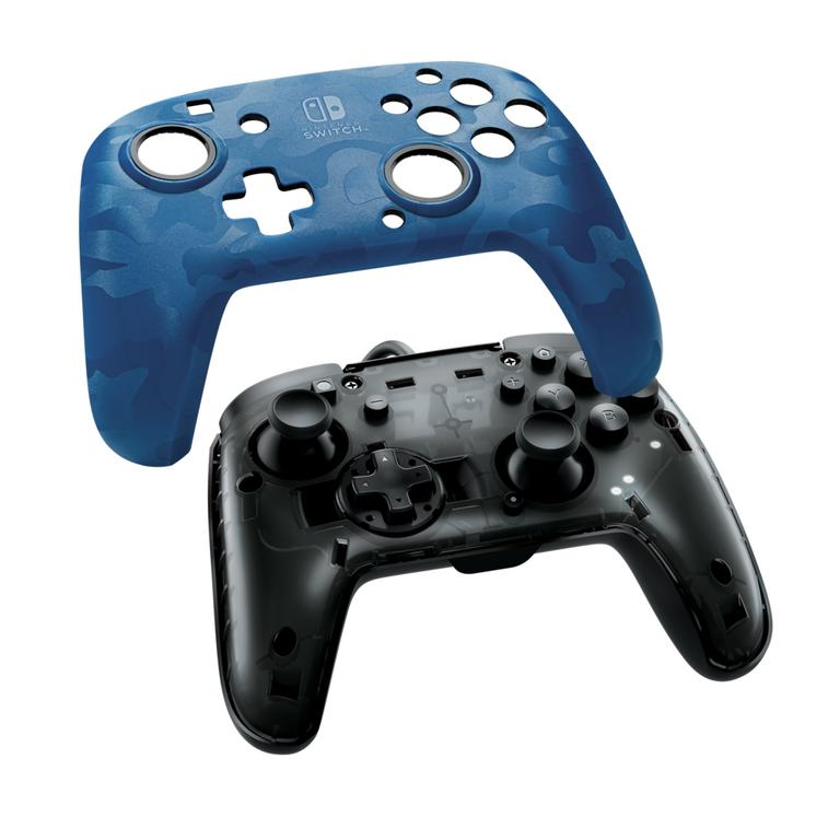 Nintendo Switch Blue Camo Face-Off Wired Controller