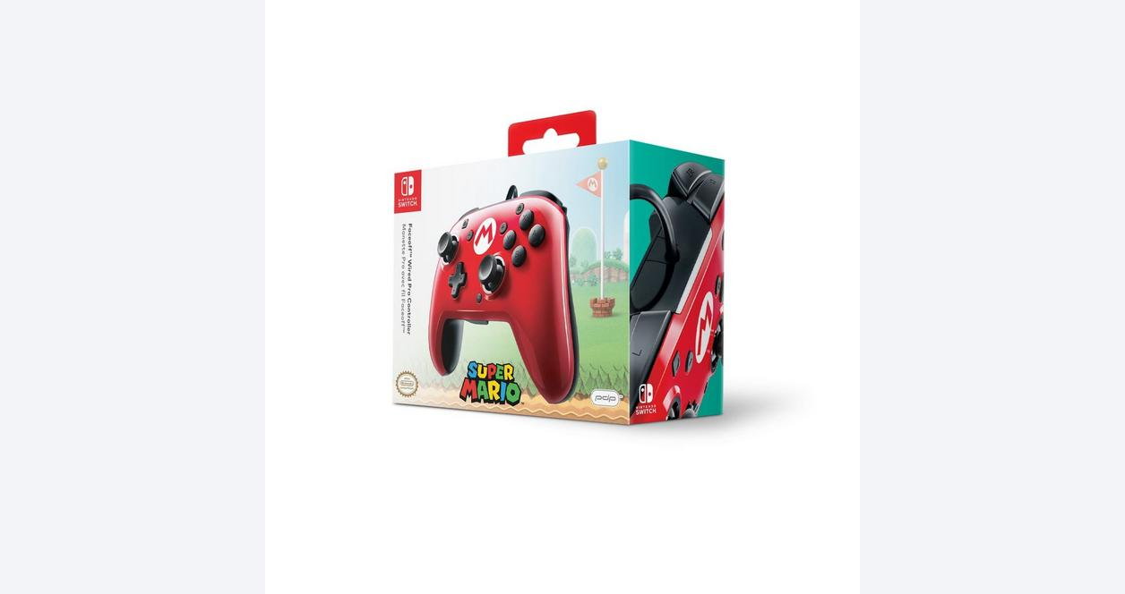 Nintendo Switch Mario M Face-Off Wired Pro Controller