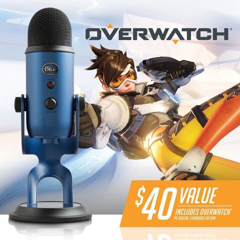 Yeti Midnight Blue USB Microphone and Overwatch Bundle | <%Console%> |  GameStop