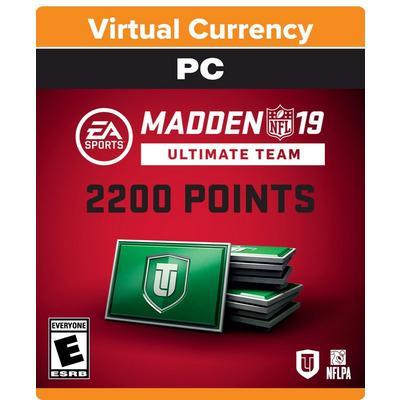 Madden NFL 19 2200 Ultimate Team Points Digital Card