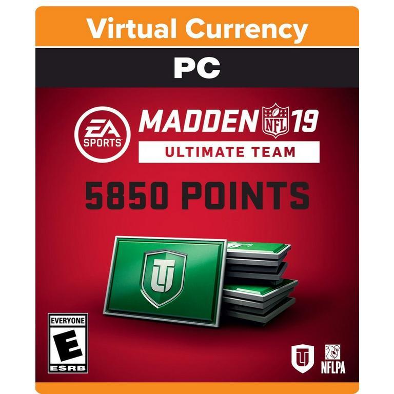 Madden NFL 19 5850 Ultimate Team Points Digital Card