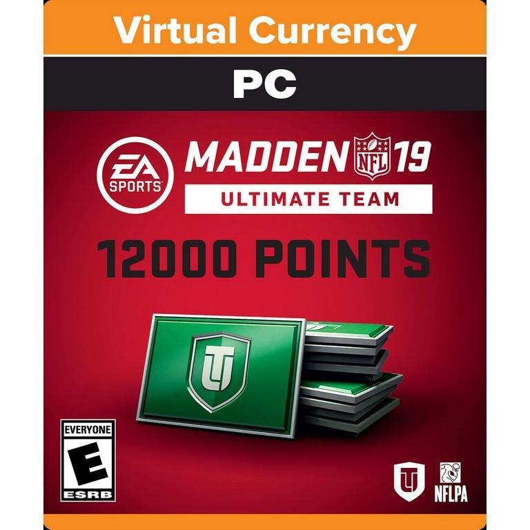 Madden NFL 19 12000 Ultimate Team Points Digital Card