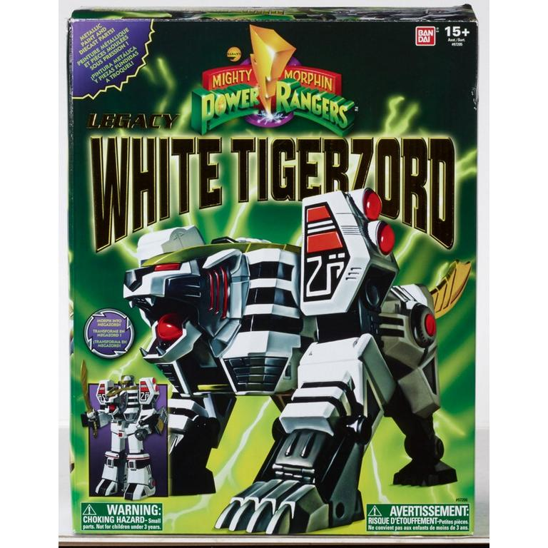 Mighty Morphing Power Rangers White Tigerzord Figure