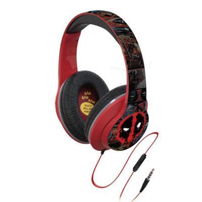 Deadpool Headphones with Line In Microphone