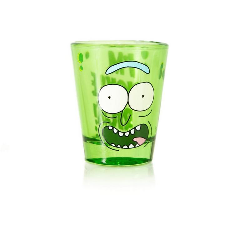 Rick and Morty Pickle Rick Mini Glass