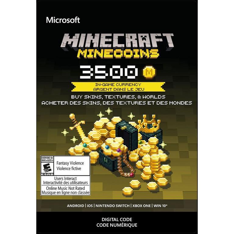 Minecraft 3500 Minecoins | Xbox One | GameStop