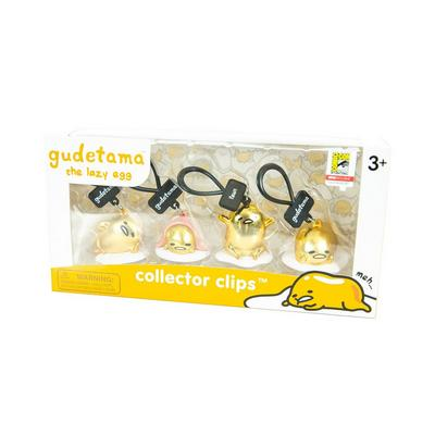 Gudetama Collector Clips 4 Pack SDCC Exclusive