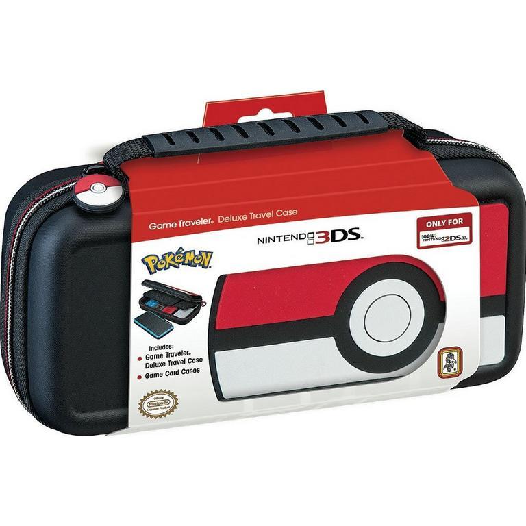 New Nintendo 2DS XL Game Traveler - Poke Ball rubber logo