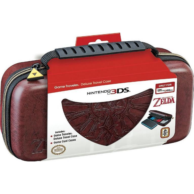 New Nintendo 2DS XL Game Traveler - Zelda Hyrule Crest Deboss Brown