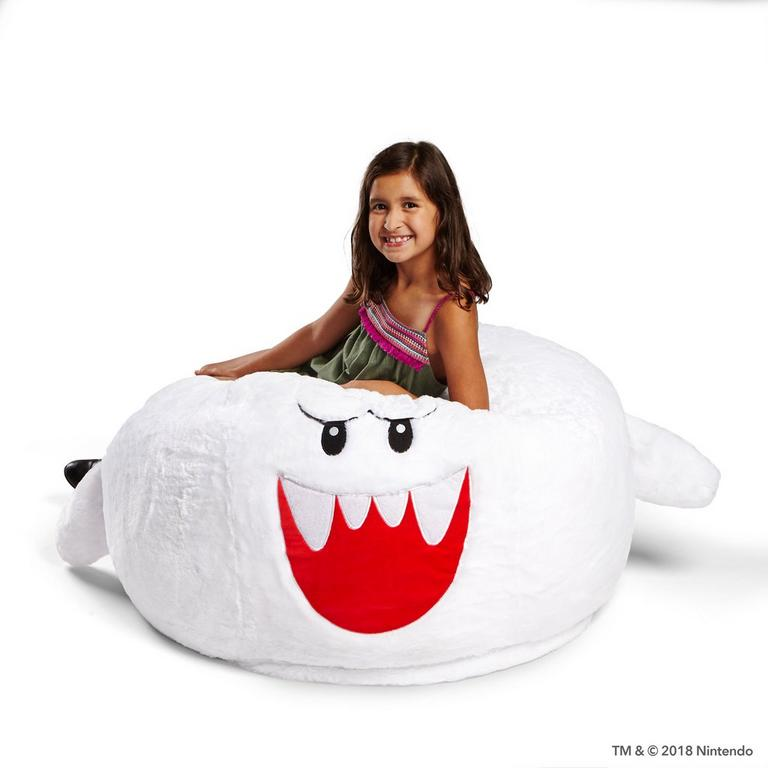 Astounding Super Mario Boo Bean Bag Chair Gamestop Machost Co Dining Chair Design Ideas Machostcouk