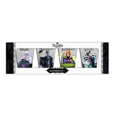 Disney Villains Mini Glass Set 4 Pack