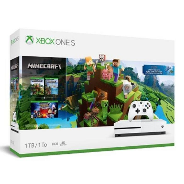 Xbox One S 1TB Minecraft Aquatics Bundle