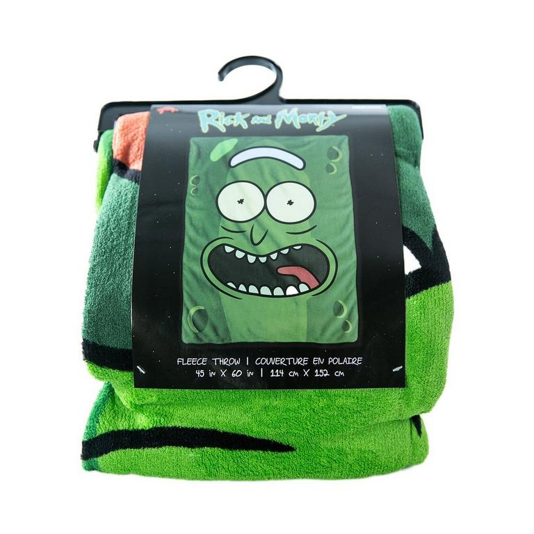 Rick and Morty Pickle Rick Throw Blanket