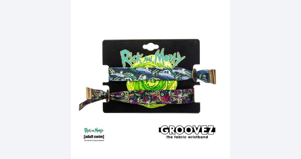 Rick and Morty Grooves Bracelet 2 Pack