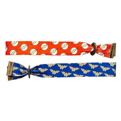 Flash and Wonder Woman Bracelet 2 Pack