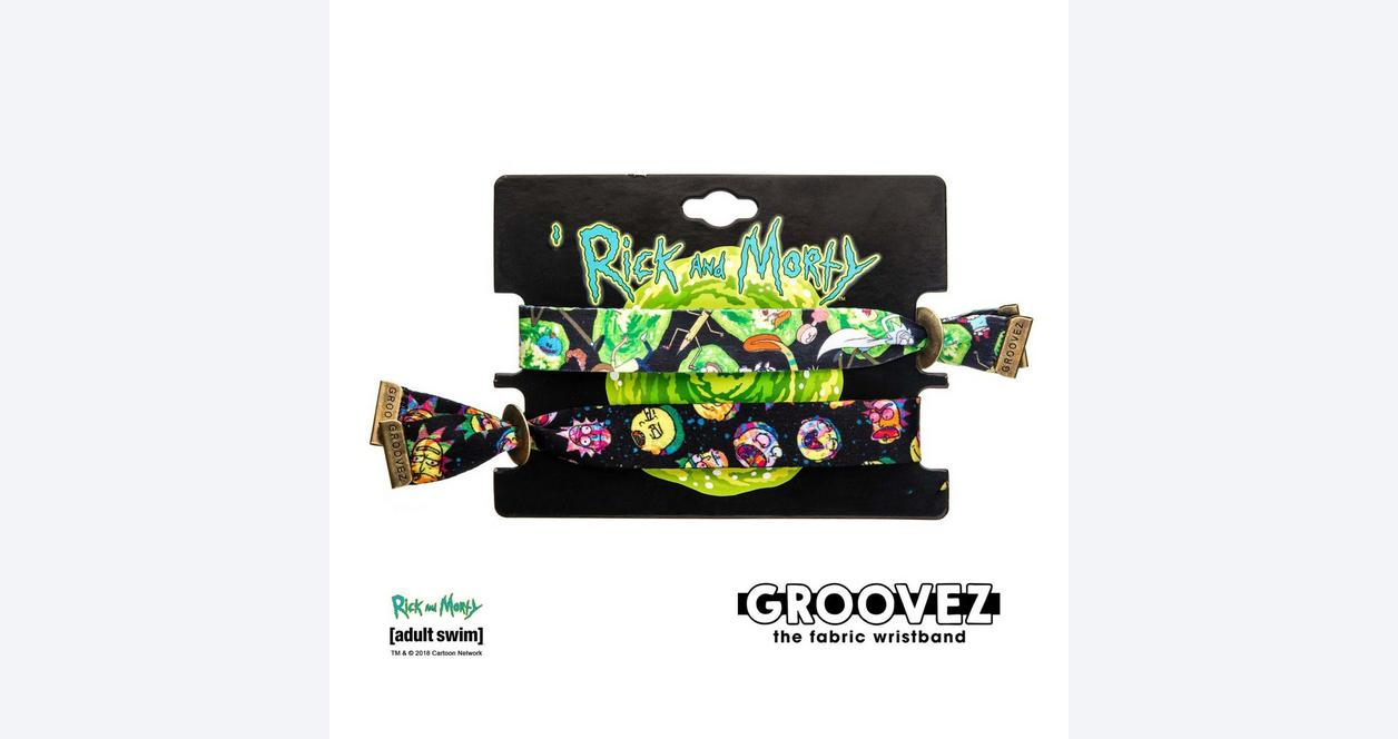 Rick and Morty Head Grooves Bracelet 2 Pack