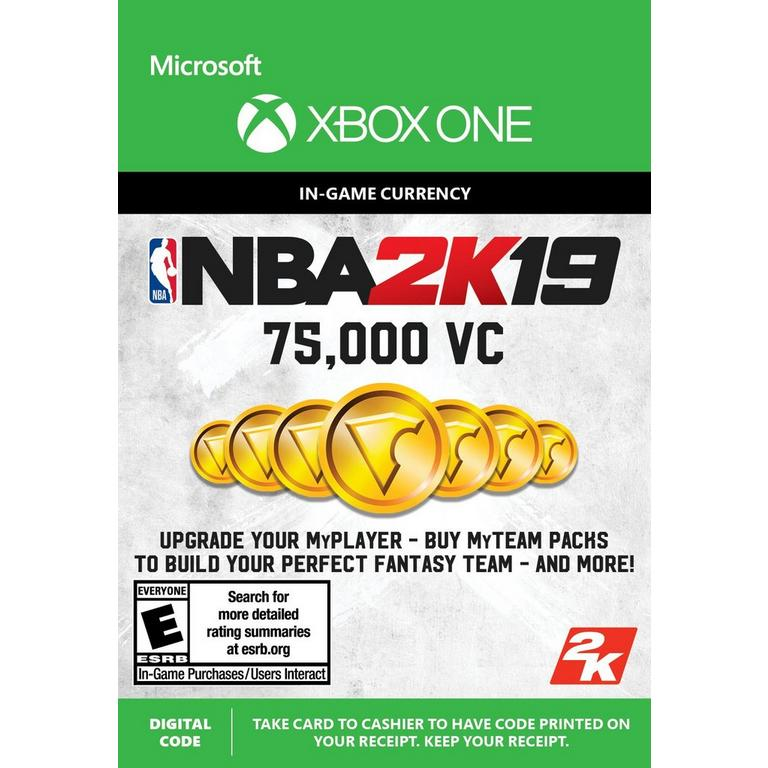 NBA 2K19 75,000 Virtual Currency