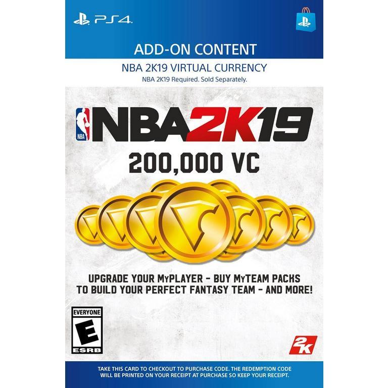 NBA 2K19 200,000 Virtual Currency | PlayStation 4 | GameStop