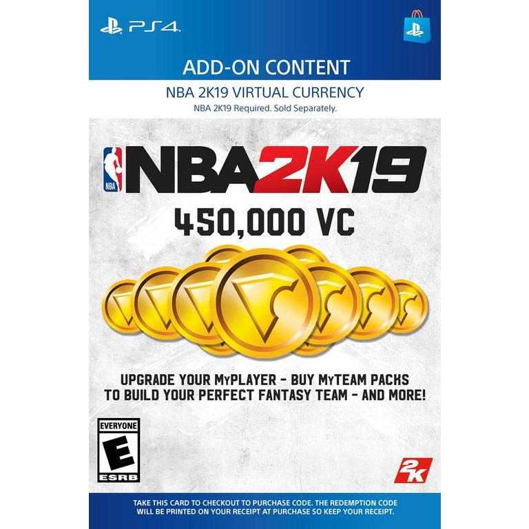 NBA 2K19 450,000 Virtual Currency | PlayStation 4 | GameStop