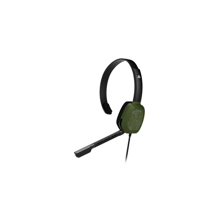 PlayStation 4 LVL 1 Green Camo Wired Chat Gaming Headset