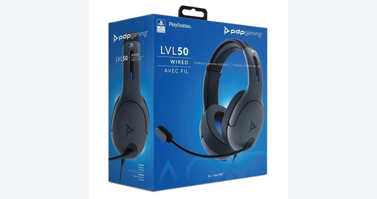 LVL50 Wired Stereo Gaming Headset for PlayStation 4