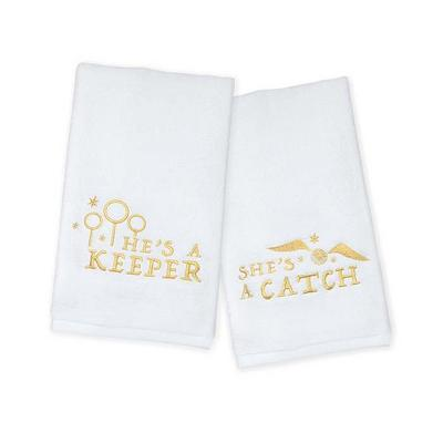 Harry Potter He's a Keeper and She's a Catch Hand Towel Set