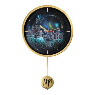 Harry Potter Hogwarts and Golden Snitch Wall Clock
