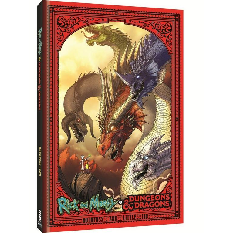 Rick and Morty + Dungeons & Dragons Book - Only at GameStop