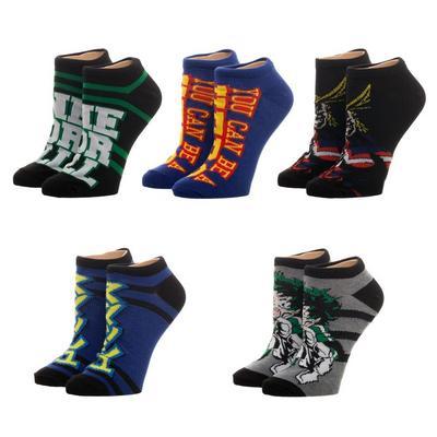 My Hero Academia Lowcut Socks 5 Pack