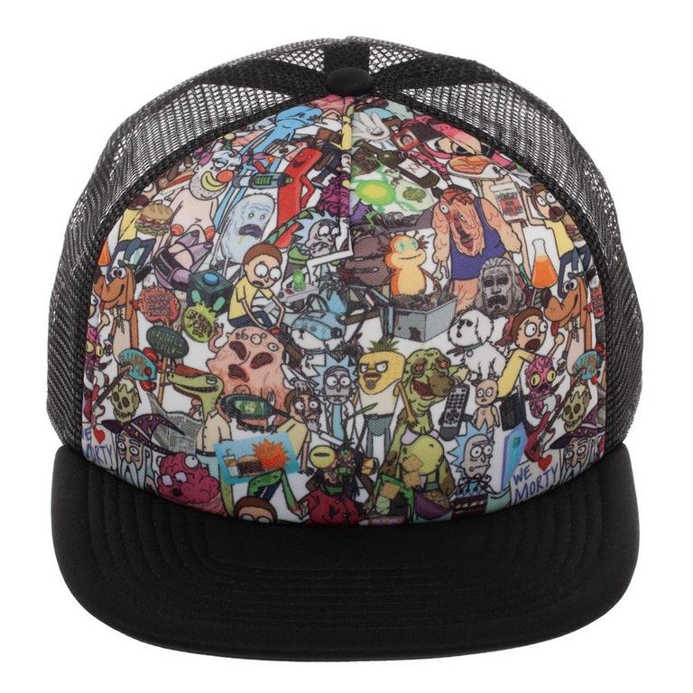 Rick and Morty Character Collage Baseball Cap