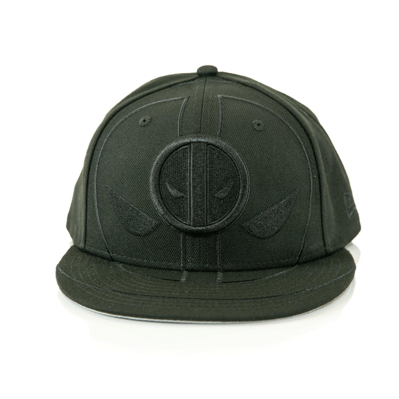 f5e1383df Deadpool Blacked-Out Logo Baseball Cap