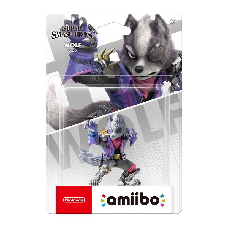 Super Smash Bros. Wolf amiibo Figure