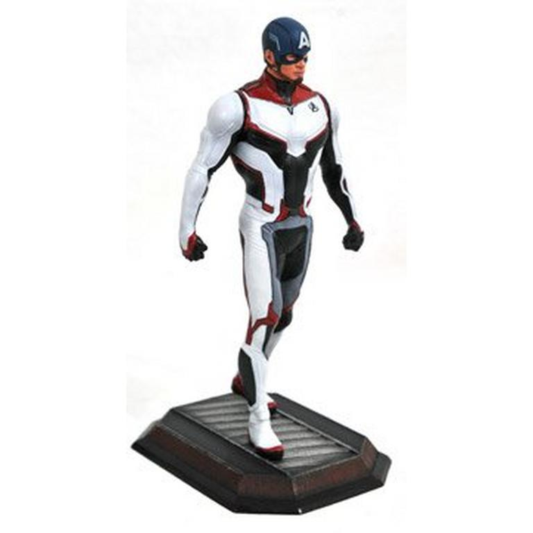 Marvel Gallery Avengers Endgame Teamsuit Captain America PVC Figure - Only at GameStop