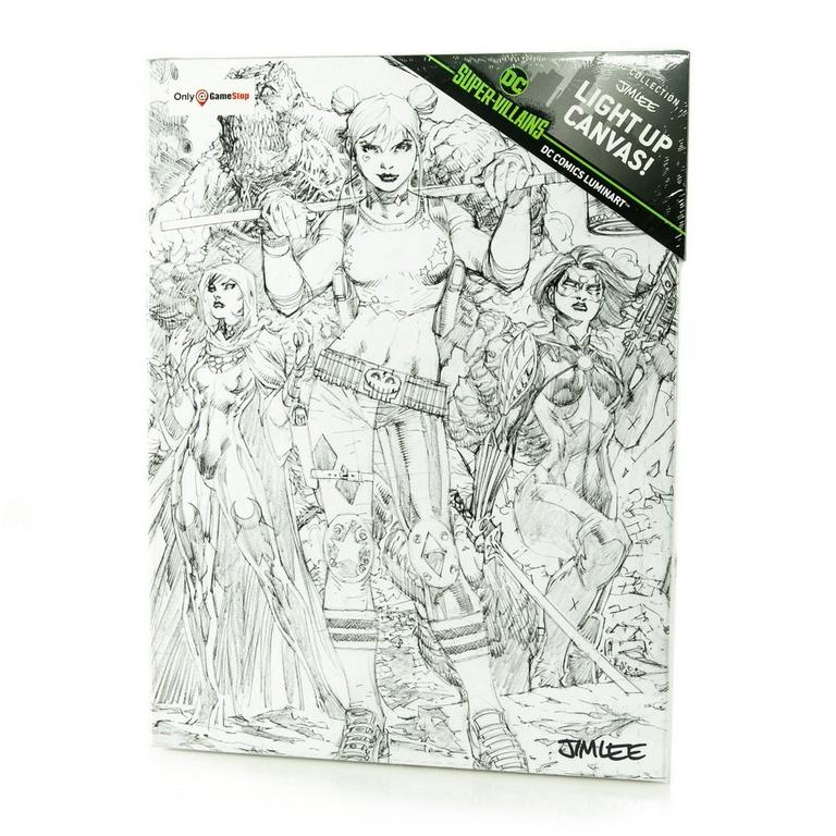 Super Villains Harley Quinn by Jim Lee Light Up Canvas