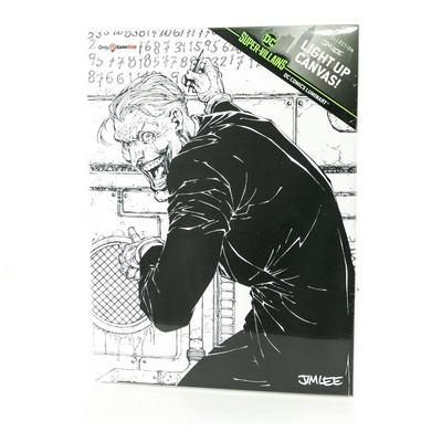 Super Villains Joker by Jim Lee Light Up Canvas